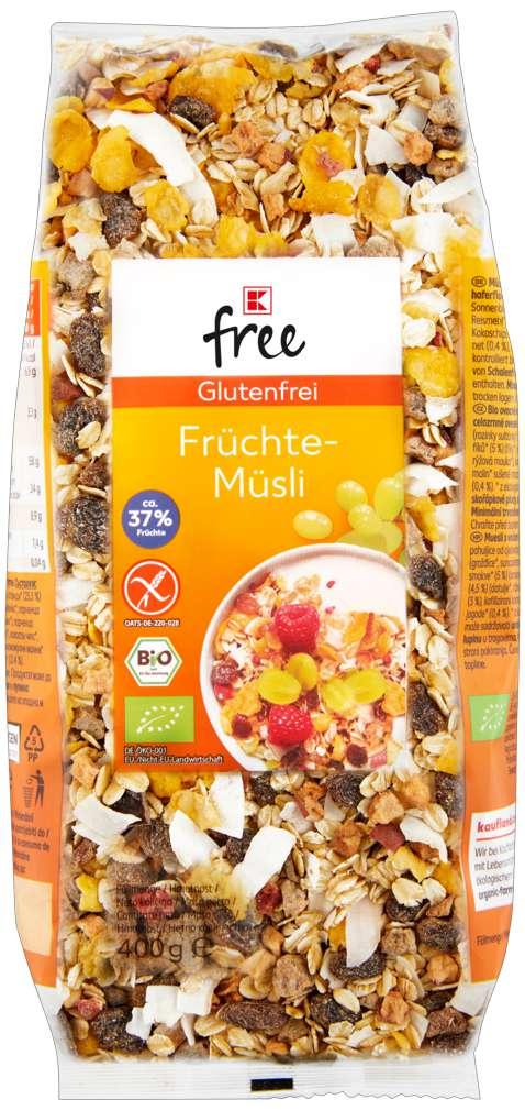 Abbildung des Sortimentsartikels K-Free Glutenfrei Müsli Frucht 400g