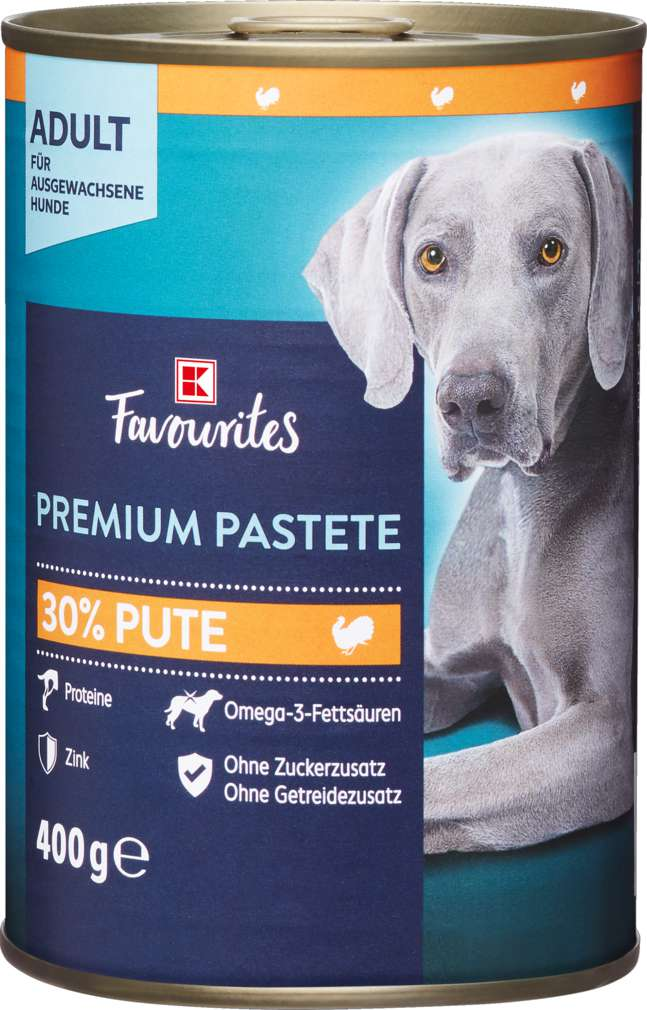 Abbildung des Sortimentsartikels K-Favourites Hundenahrung Premium Pastete Pute 400g