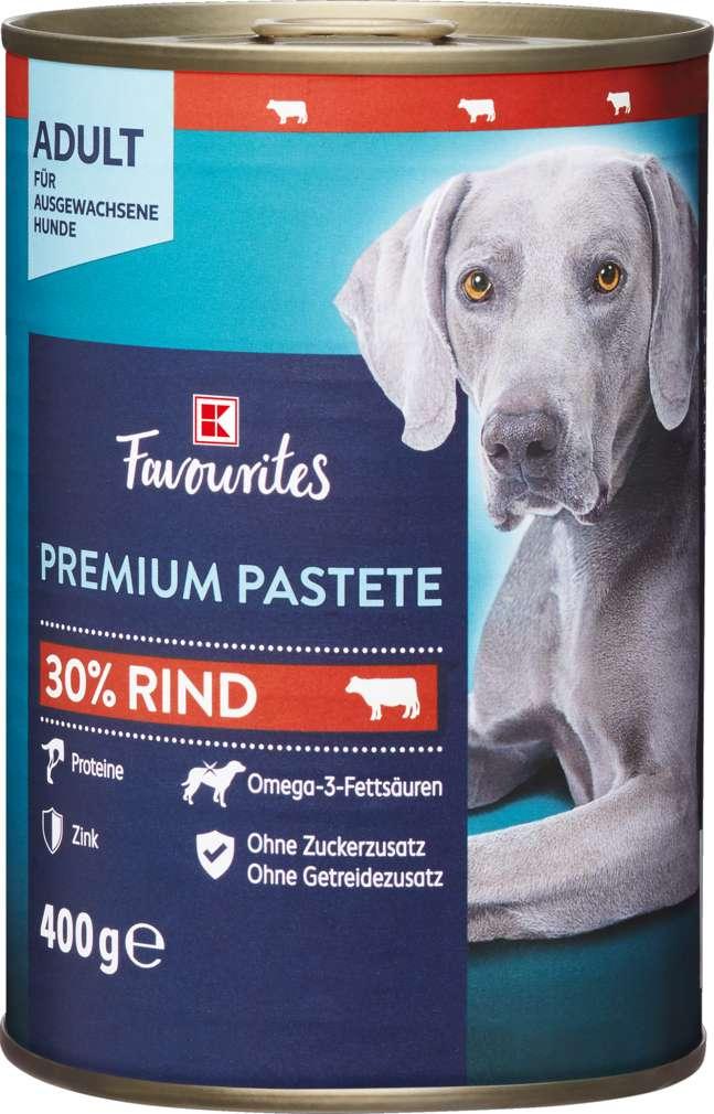 Abbildung des Sortimentsartikels K-Favourites Hundenahrung Premium Pastete Rind 400g