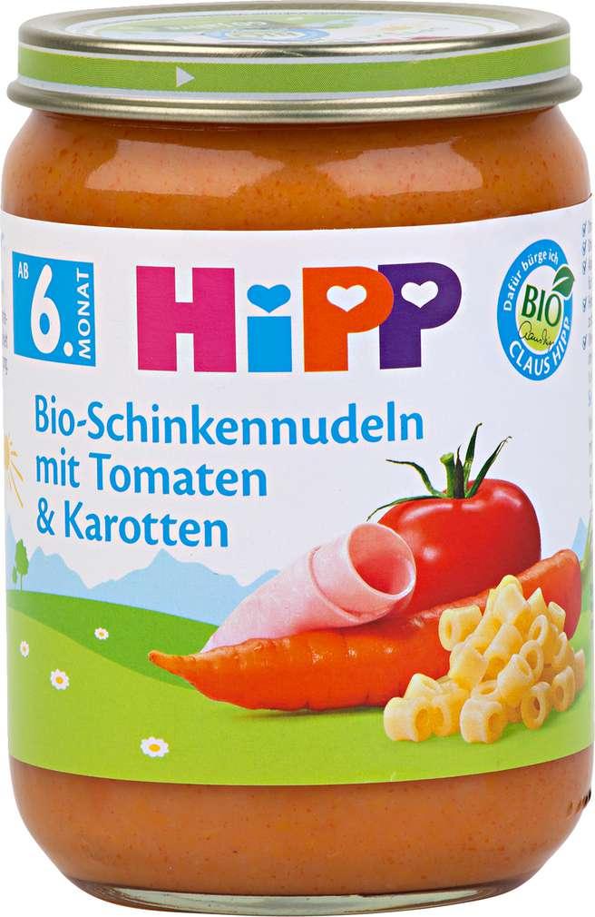 Abbildung des Sortimentsartikels Hipp Bio-Schinkennudeln mit Tomaten und Karotten 190g
