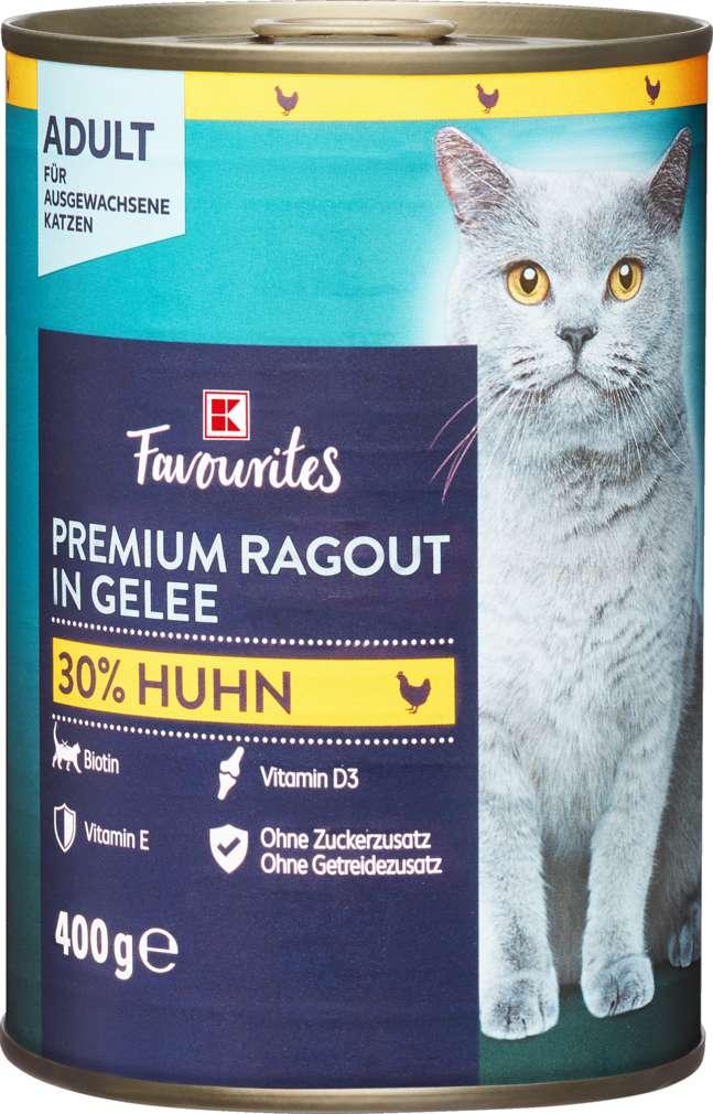Abbildung des Sortimentsartikels K-Favourites Katzennahrung Premium Huhn Gelee 400g