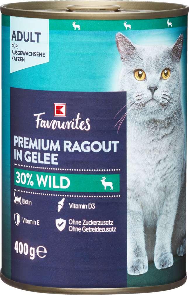 Abbildung des Sortimentsartikels K-Favourites Katzennahrung Premium Wild Gelee 400g