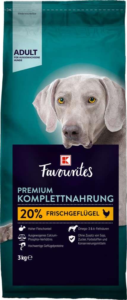 Abbildung des Sortimentsartikels K-Favourites Hundenahrung Premium Adult 3kg