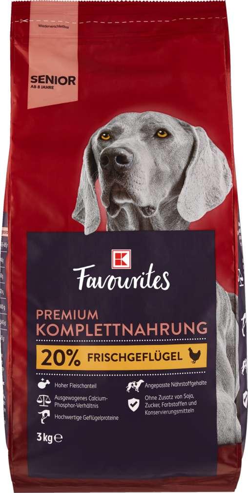 Abbildung des Sortimentsartikels K-Favourites Hundenahrung Premium Senior 3kg