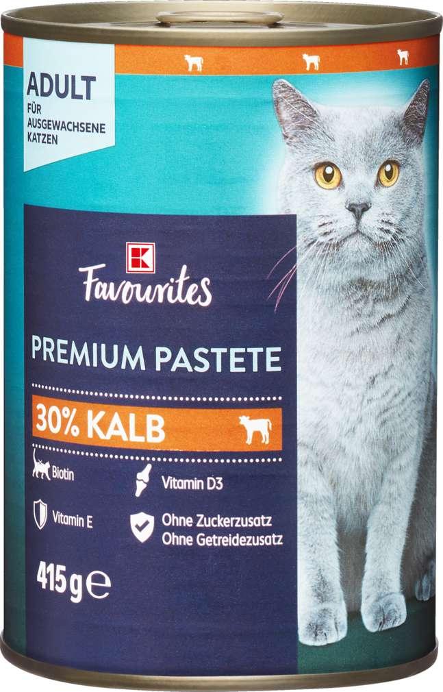 Abbildung des Sortimentsartikels K-Favourites Katzennahrung Premium Pate Kalb 415g