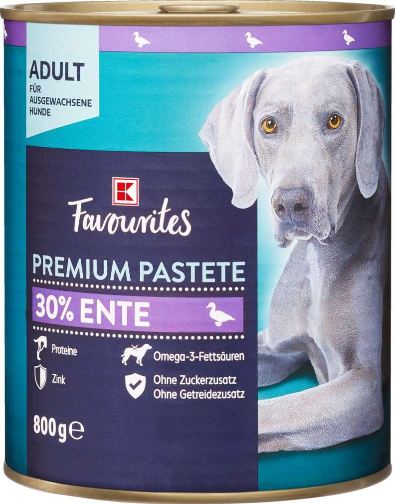 Abbildung des Sortimentsartikels K-Favourites Hundenahrung Premium Pate Ente 800g