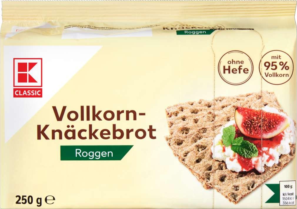 Abbildung des Sortimentsartikels K-Classic Knäckebrot Roggen 250g