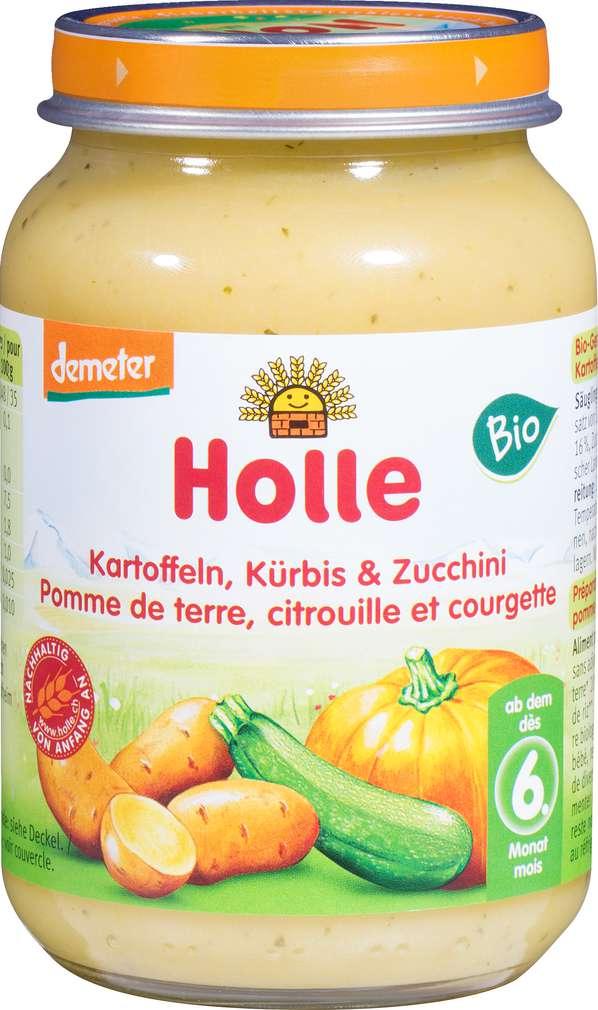Abbildung des Sortimentsartikels Holle Demeter Kürbis/Zucchini ab dem 6. Monat 190g