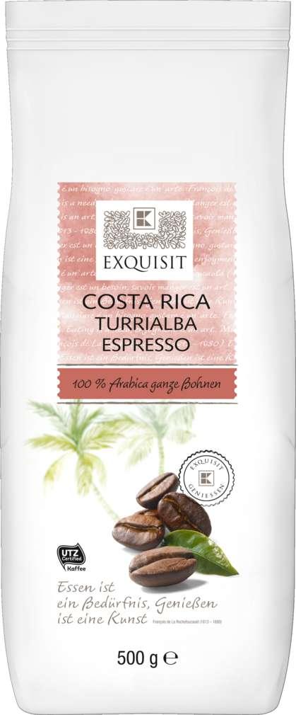 Abbildung des Sortimentsartikels Exquisit Ganze Kaffeebohnen Costa Rica Turrialba 500g
