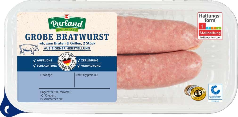 Abbildung des Sortimentsartikels K-Purland Grobe Bratwurst 2 Stück