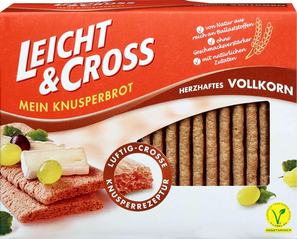 Abbildung des Sortimentsartikels Leicht & Cross Mein Knusperbrot Vollkorn 125g