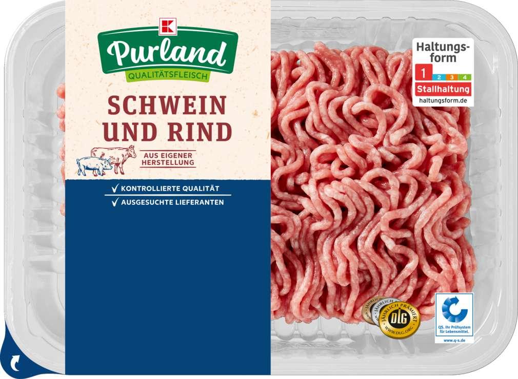 Abbildung des Sortimentsartikels K-Purland Hackfleisch gemischt Schwein/Rind 300g