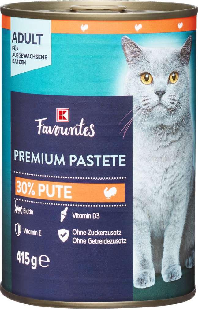 Abbildung des Sortimentsartikels K-Favourites Katzennahrung Premium Pate Pute 415g