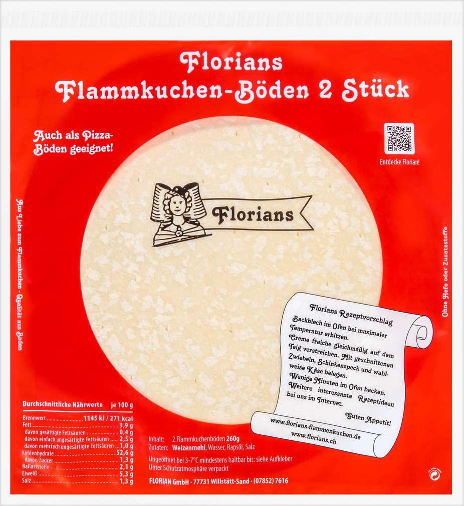 Abbildung des Sortimentsartikels Florian Flammkuchenböden 2 Stück 260g