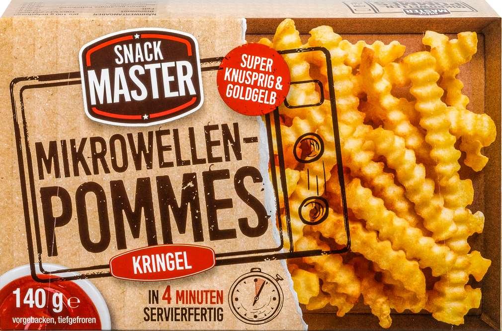 Abbildung des Sortimentsartikels Snack Master Mikrowellen-Pommes Kringel 140g