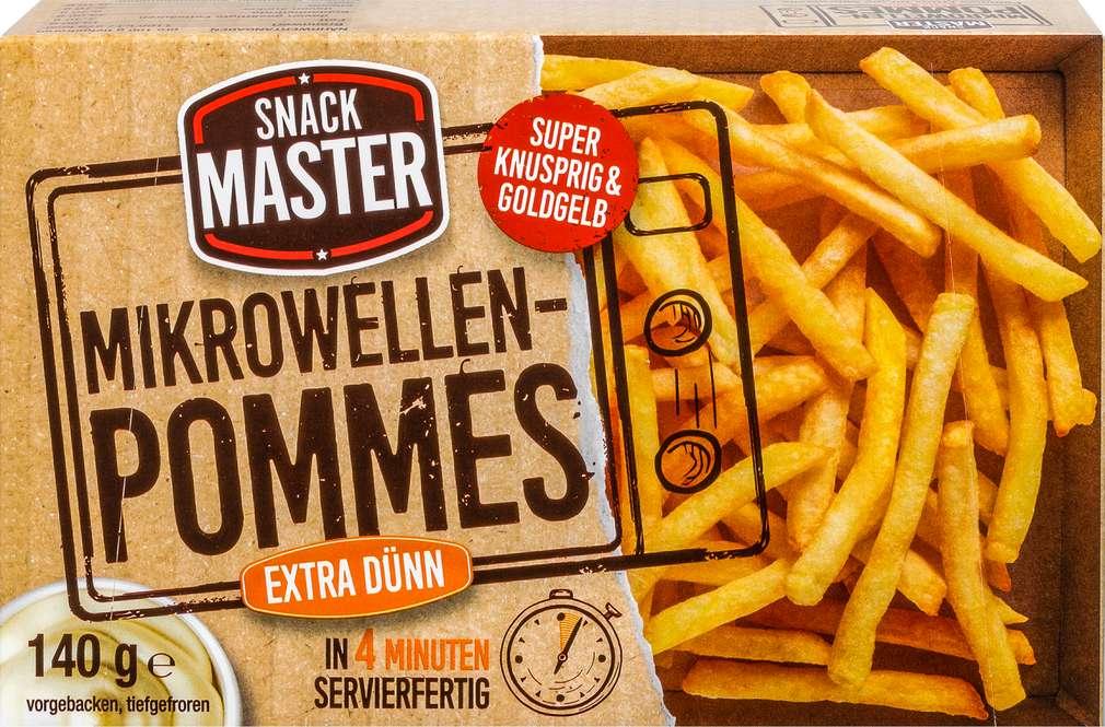 Abbildung des Sortimentsartikels Snack Master Mikrowellen-Pommes extra dünn 140g