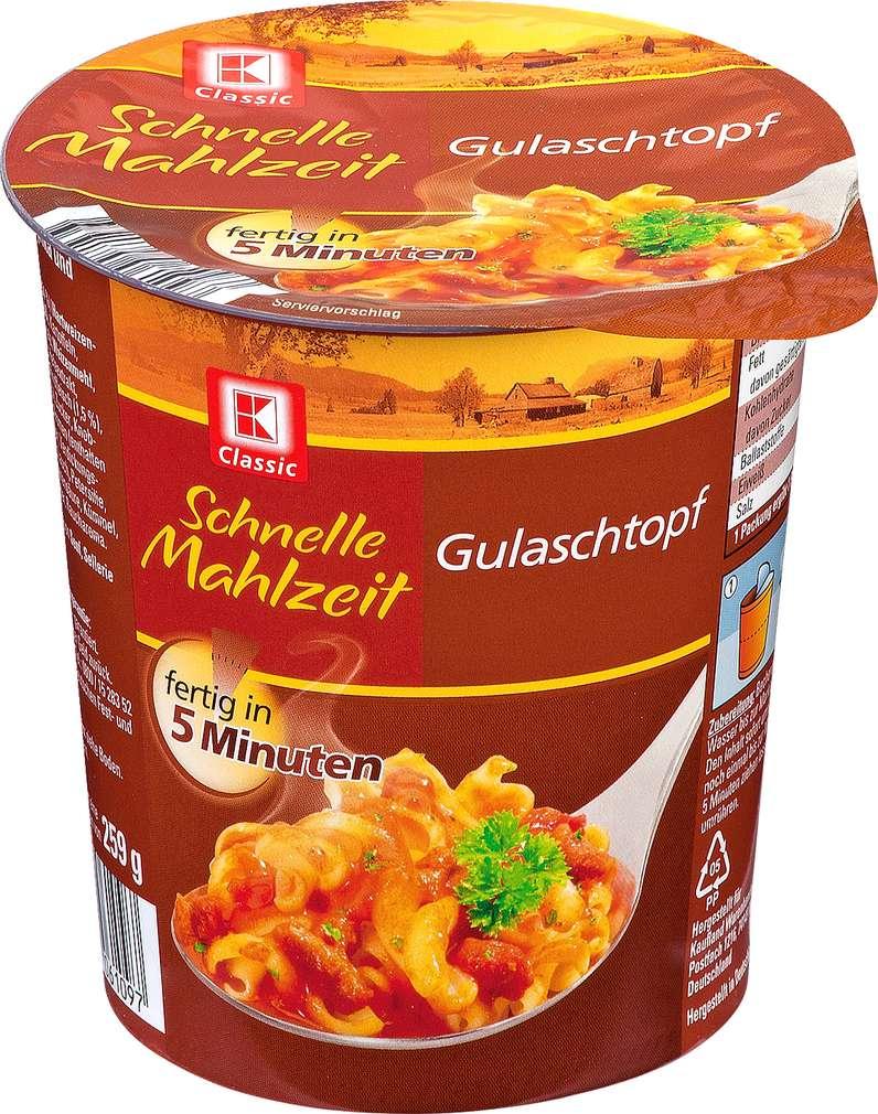 Abbildung des Sortimentsartikels K-Classic Schnelle Mahlzeit Gulaschtopf 59g