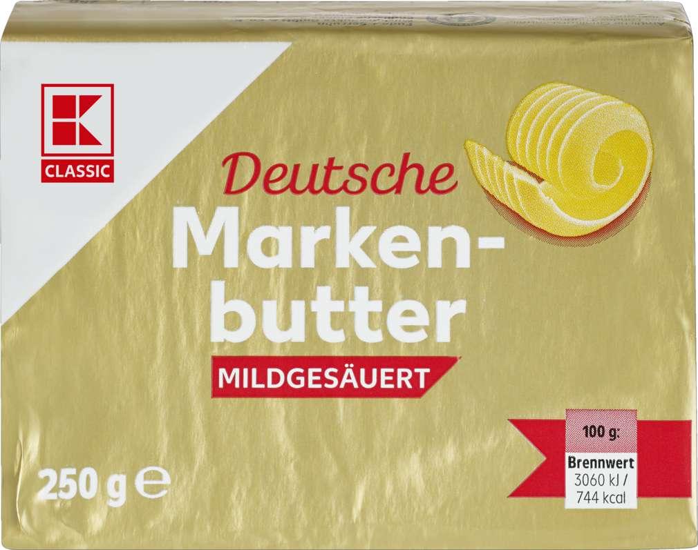 Abbildung des Sortimentsartikels K-Classic Dt. Markenbutter mildgesäuert 82% 250g