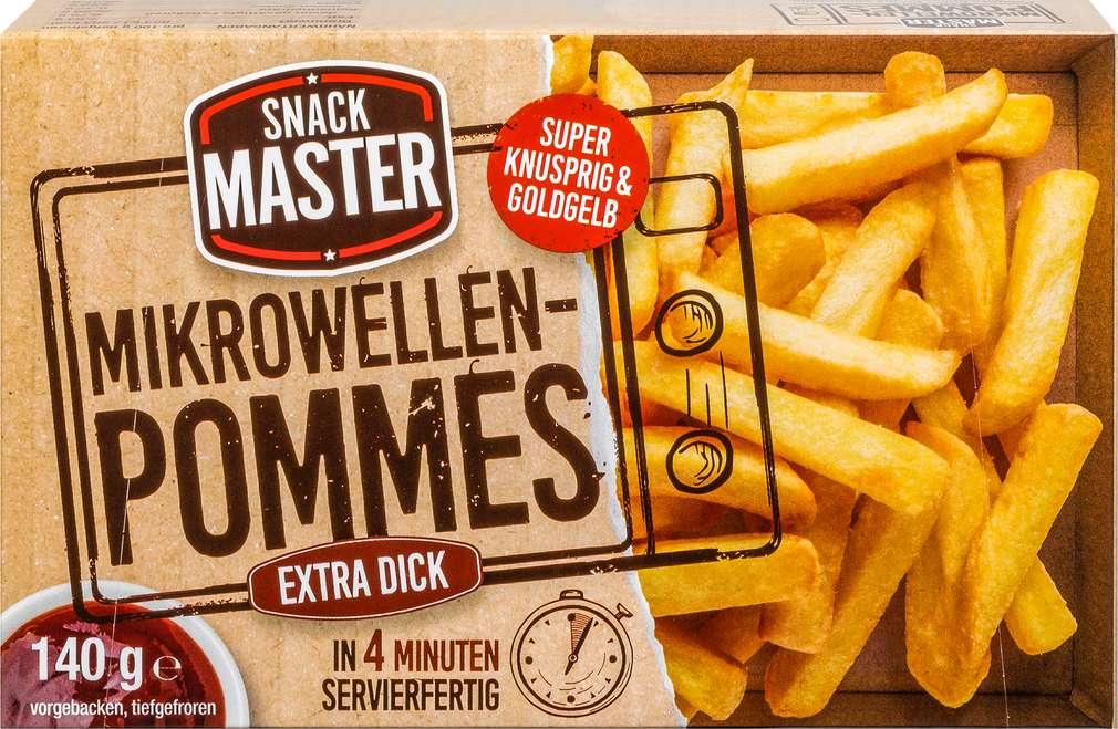Abbildung des Sortimentsartikels Snack Master Mikrowellen-Pommes extra dick 140g
