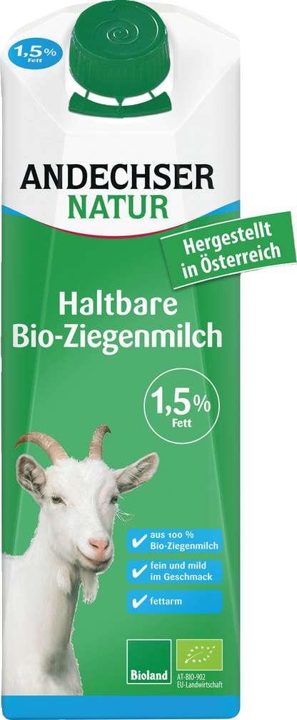 Abbildung des Sortimentsartikels Andechser Natur Haltbare Bio-Ziegenmilch 1,5% 1l