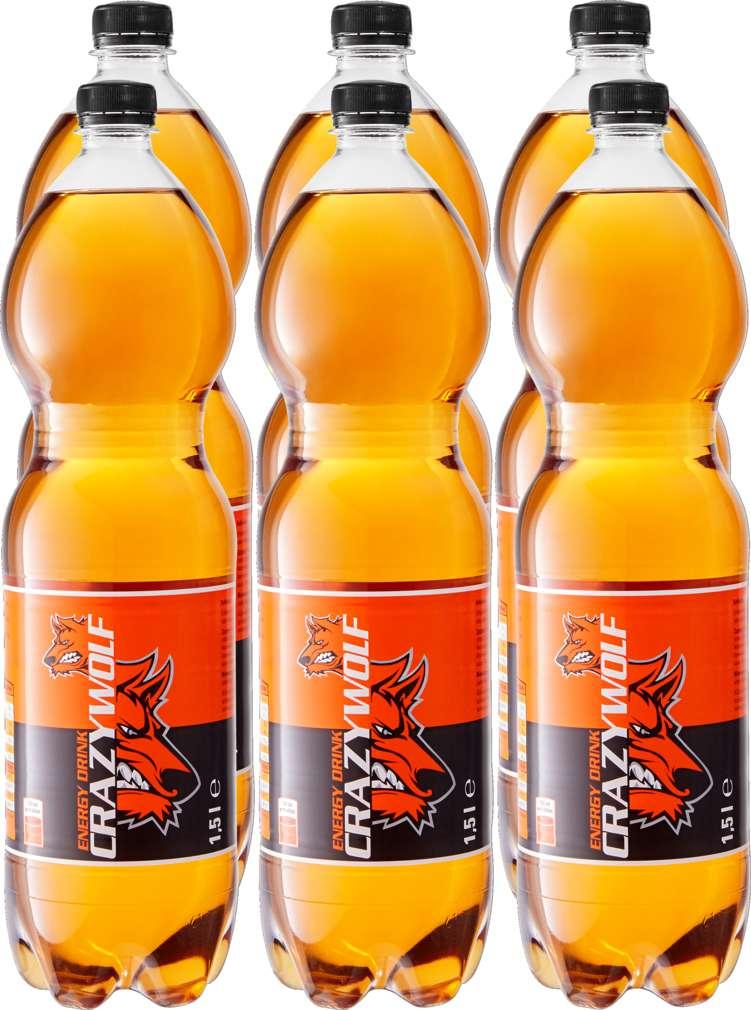 Abbildung des Sortimentsartikels Crazy Wolf Energy Drink 6x1,5l