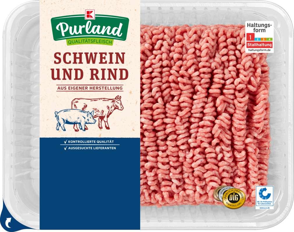 Abbildung des Sortimentsartikels K-Purland Hackfleisch gemischt Schwein/Rind 1kg