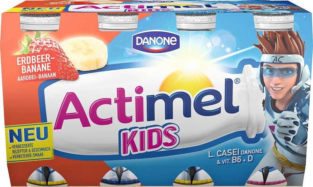 Abbildung des Sortimentsartikels Danone Actimel Kids Erdbeer-Banane 8x100g