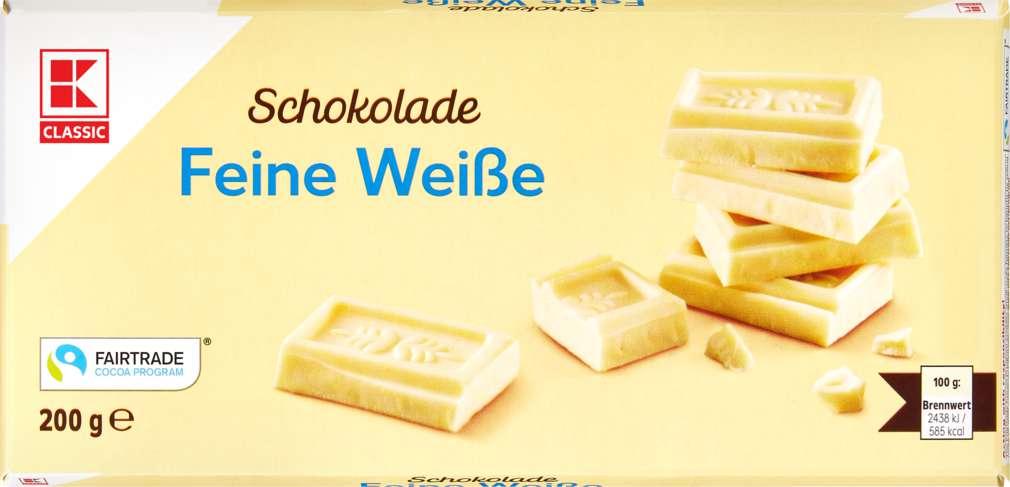 Abbildung des Sortimentsartikels K-Classic Feine Weiße Schokolade 200g
