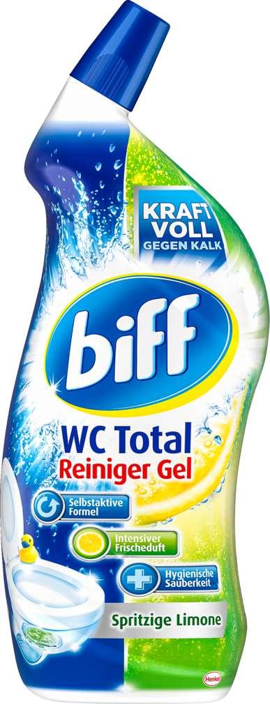 Abbildung des Sortimentsartikels Biff WC-Total Spritzige Limone 750ml