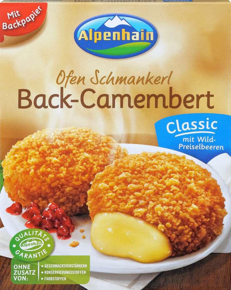Abbildung des Sortimentsartikels Alpenhain Back-Camembert mit Wildpreiselbeeren 2 Stück 200g