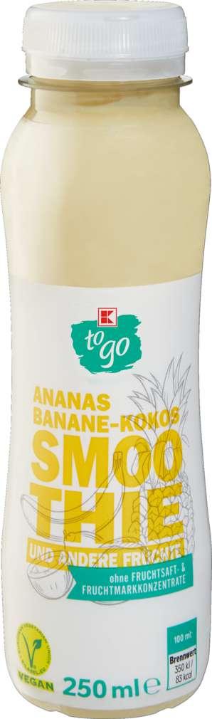 Abbildung des Sortimentsartikels K-To Go Smoothie Ananas/Banane/Kokos 250ml