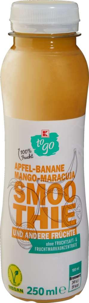 Abbildung des Sortimentsartikels K-To Go Smoothie Apfel/Ban/Mango/Mara 250ml
