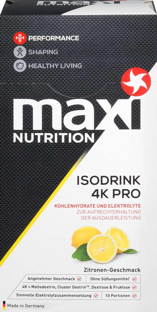 Abbildung des Sortimentsartikels Maxi Nutrition Iso Getränkepulver Zitrone 330g