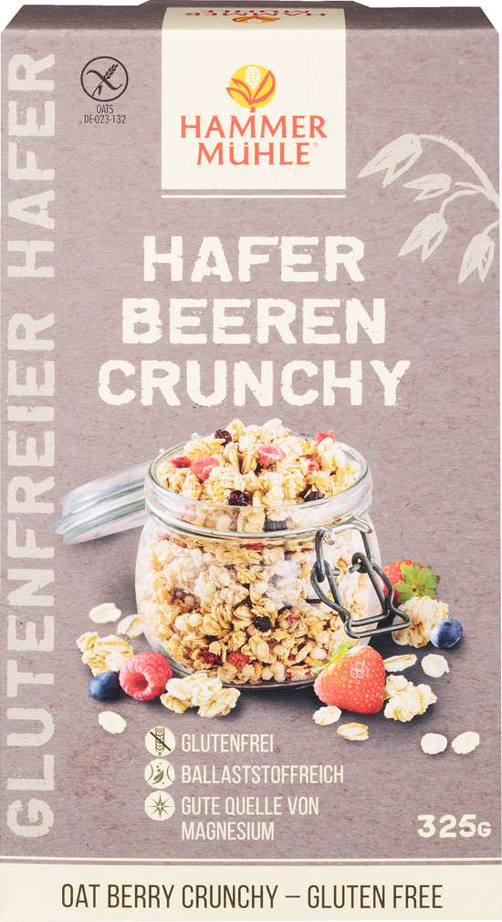 Abbildung des Sortimentsartikels Hammermühle Hafer Beeren Crunchy glutenfrei 325g