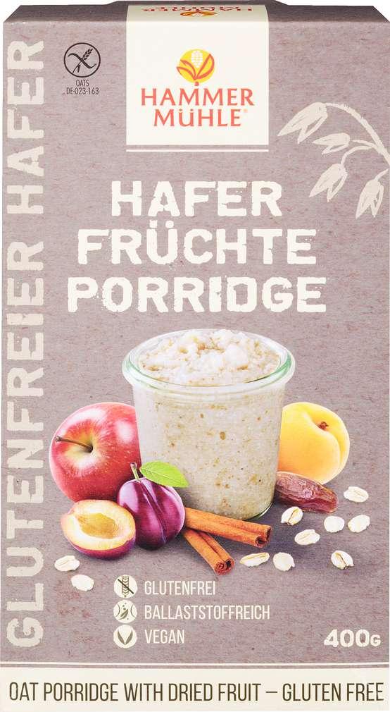 Abbildung des Sortimentsartikels Hammermühle Hafer Früchte Porridge glutenfrei 400g
