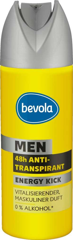 Abbildung des Sortimentsartikels Bevola Antitranspirant Men Energy Kick 200ml