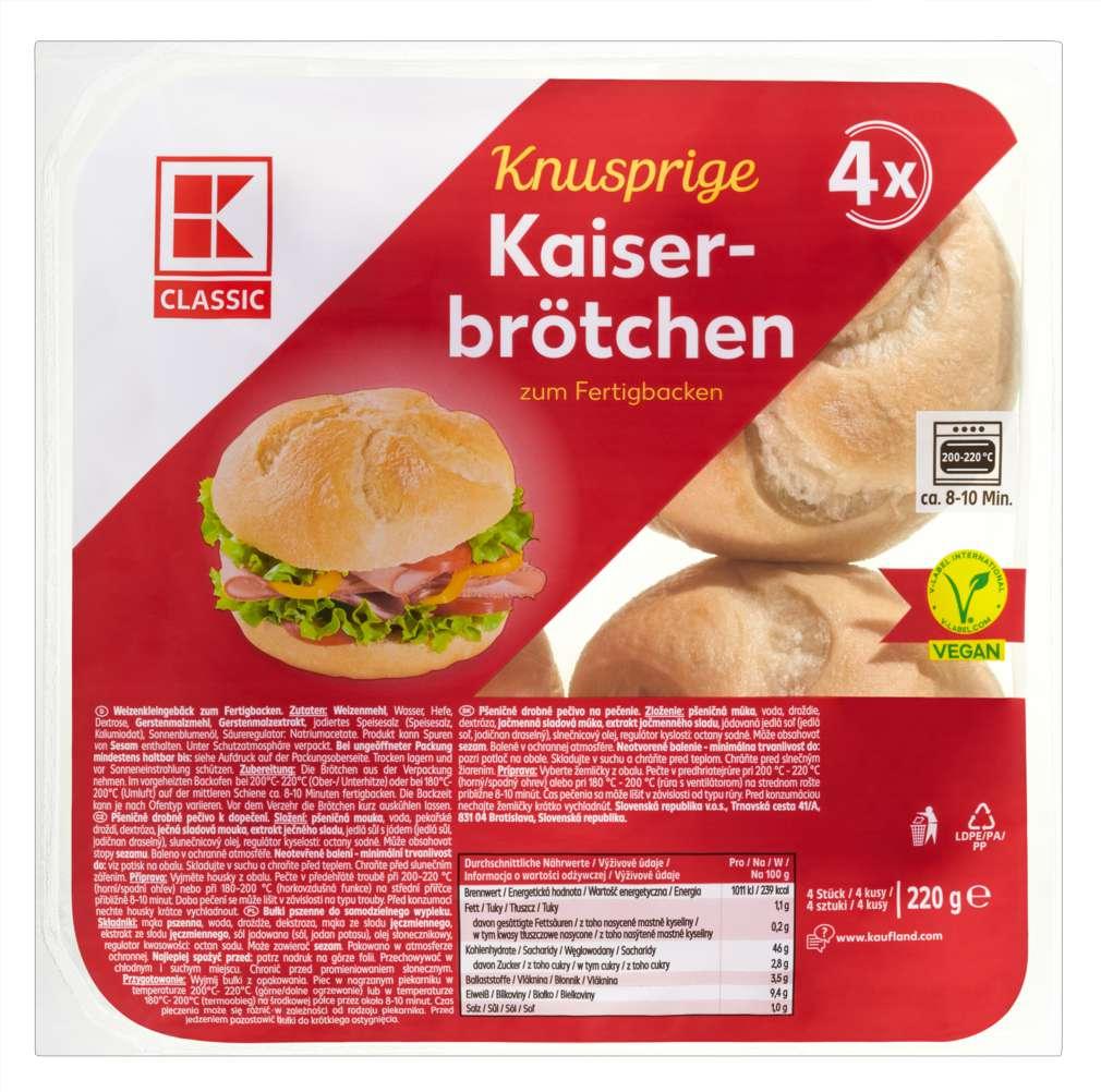 Abbildung des Sortimentsartikels K-Classic Kaiserbrötchen 220g 4er