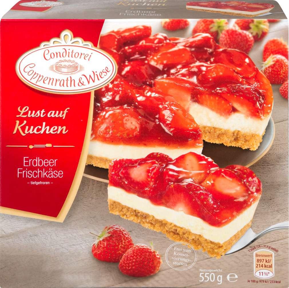 Abbildung des Sortimentsartikels Conditorei Coppenrath & Wiese Lust auf Kuchen Erdbeer-Frischkäse Kuchen 550g