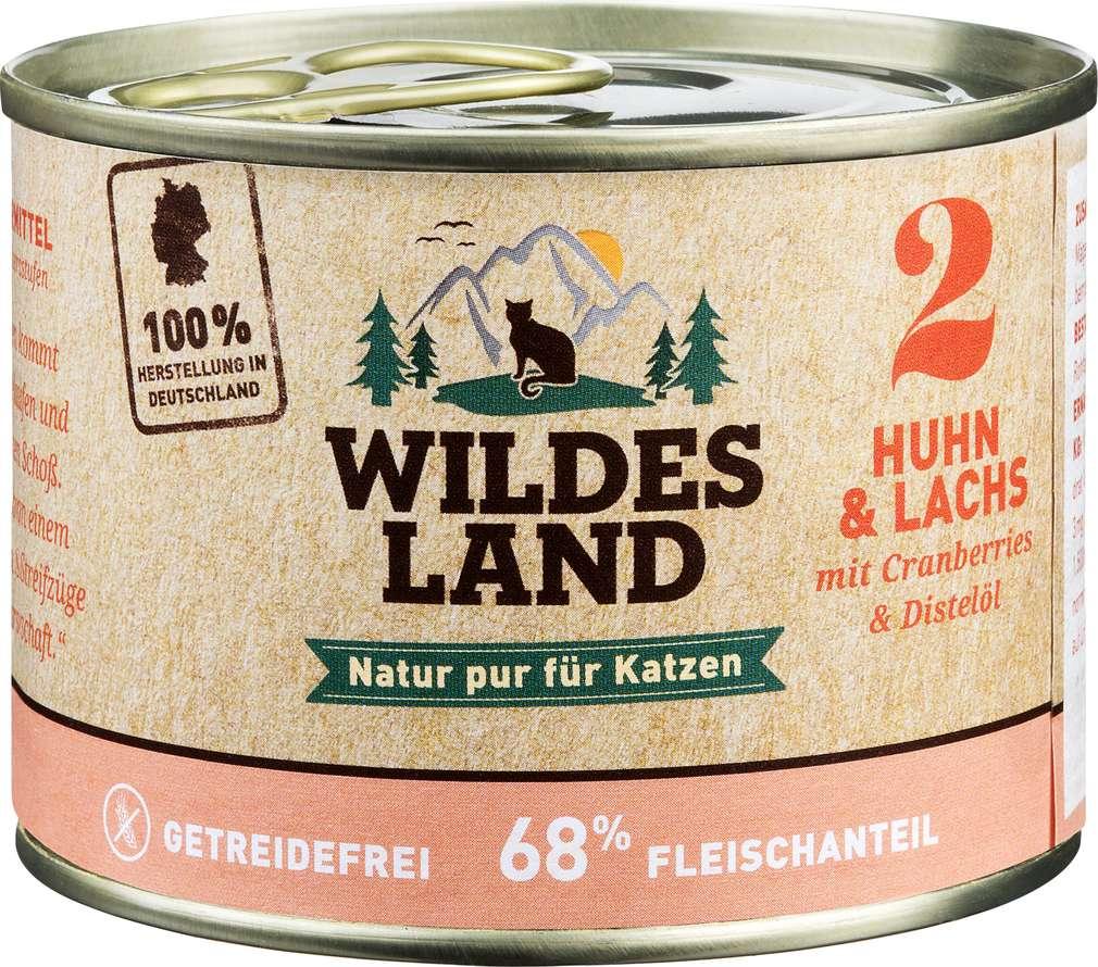 Abbildung des Sortimentsartikels Wildes Land Huhn & Lachs 200g