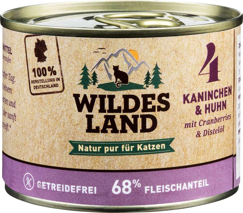 Abbildung des Sortimentsartikels Wildes Land Kaninchen & Huhn 200g