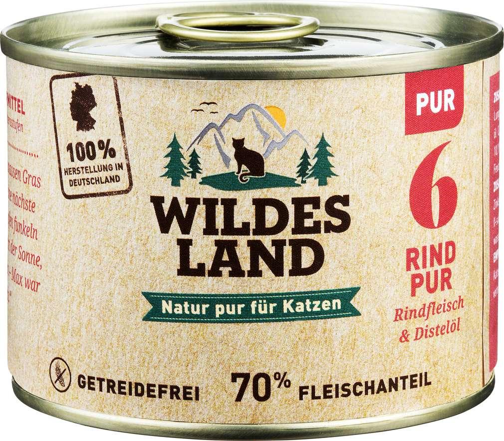 Abbildung des Sortimentsartikels Wildes Land Rind Pur 200g
