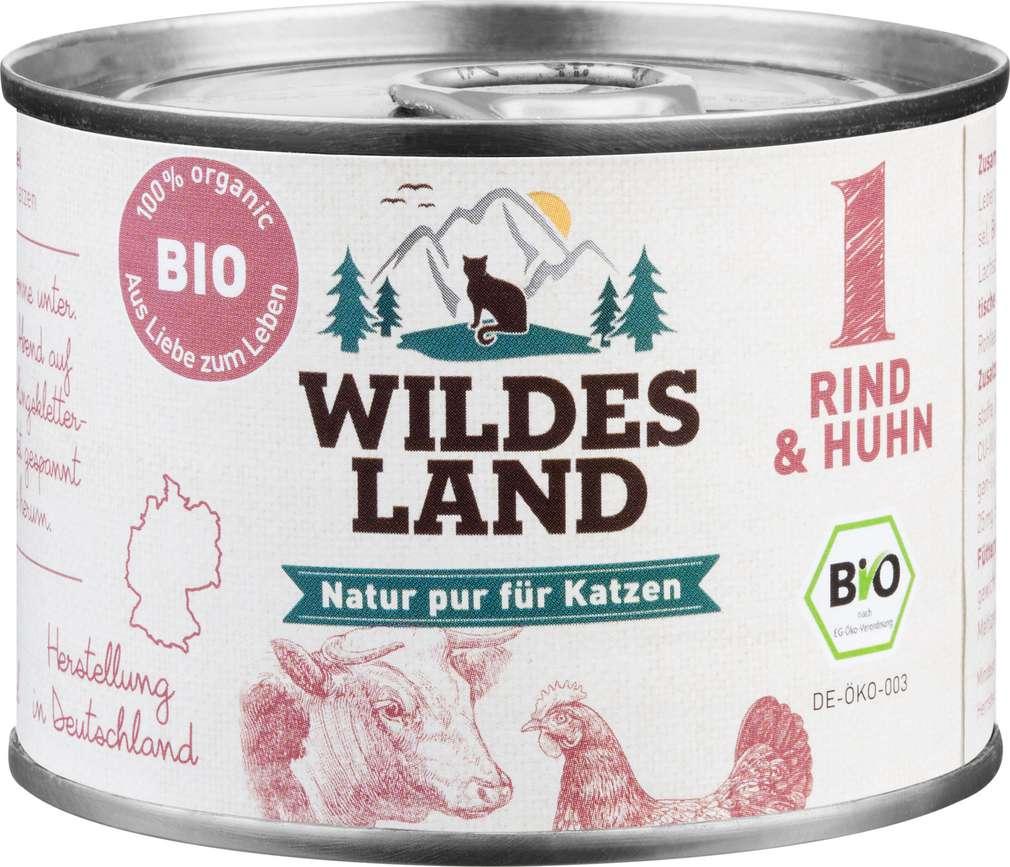Abbildung des Sortimentsartikels Wildes Land Bio Rind & Huhn 200g