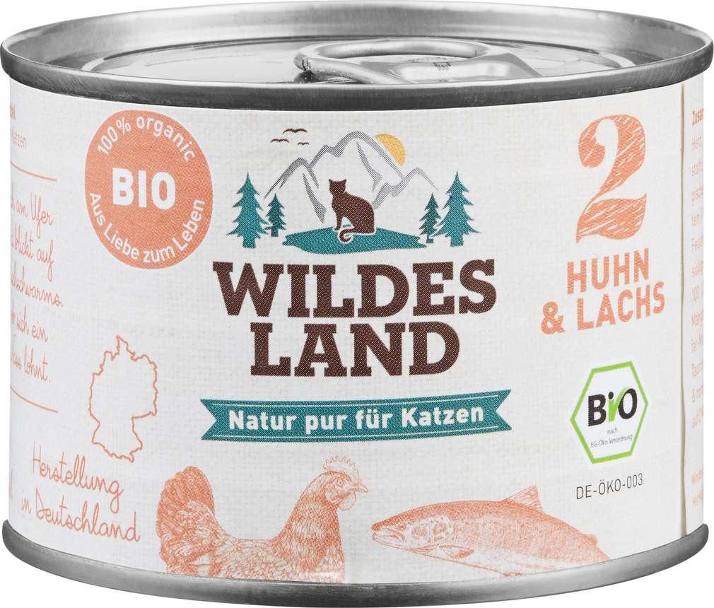 Abbildung des Sortimentsartikels Wildes Land Bio Huhn & Lachs 200g