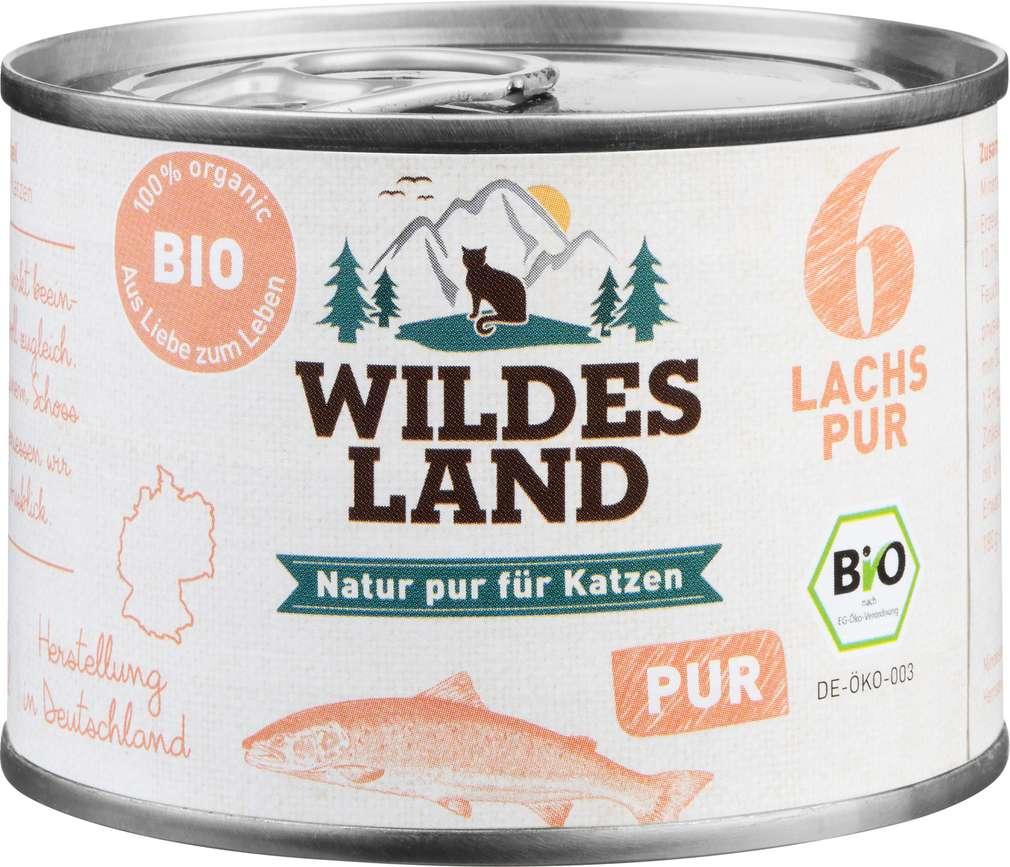 Abbildung des Sortimentsartikels Wildes Land Bio Lachs Pur 200g