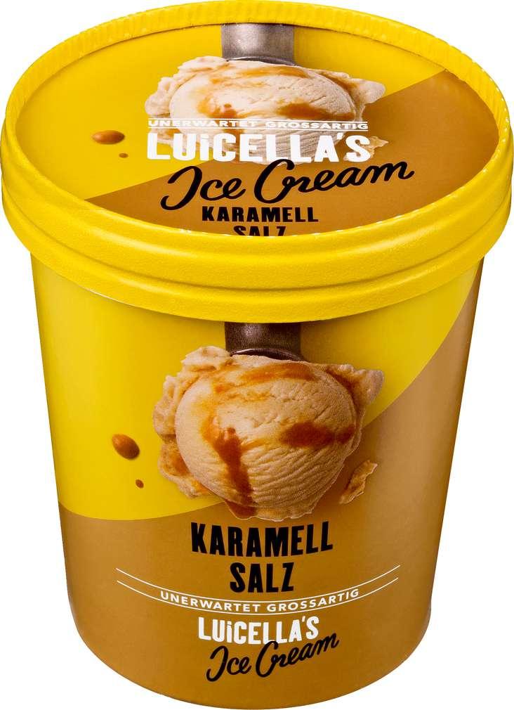 Abbildung des Sortimentsartikels Luicella's Ice Cream Karamell Salz Eis 500ml