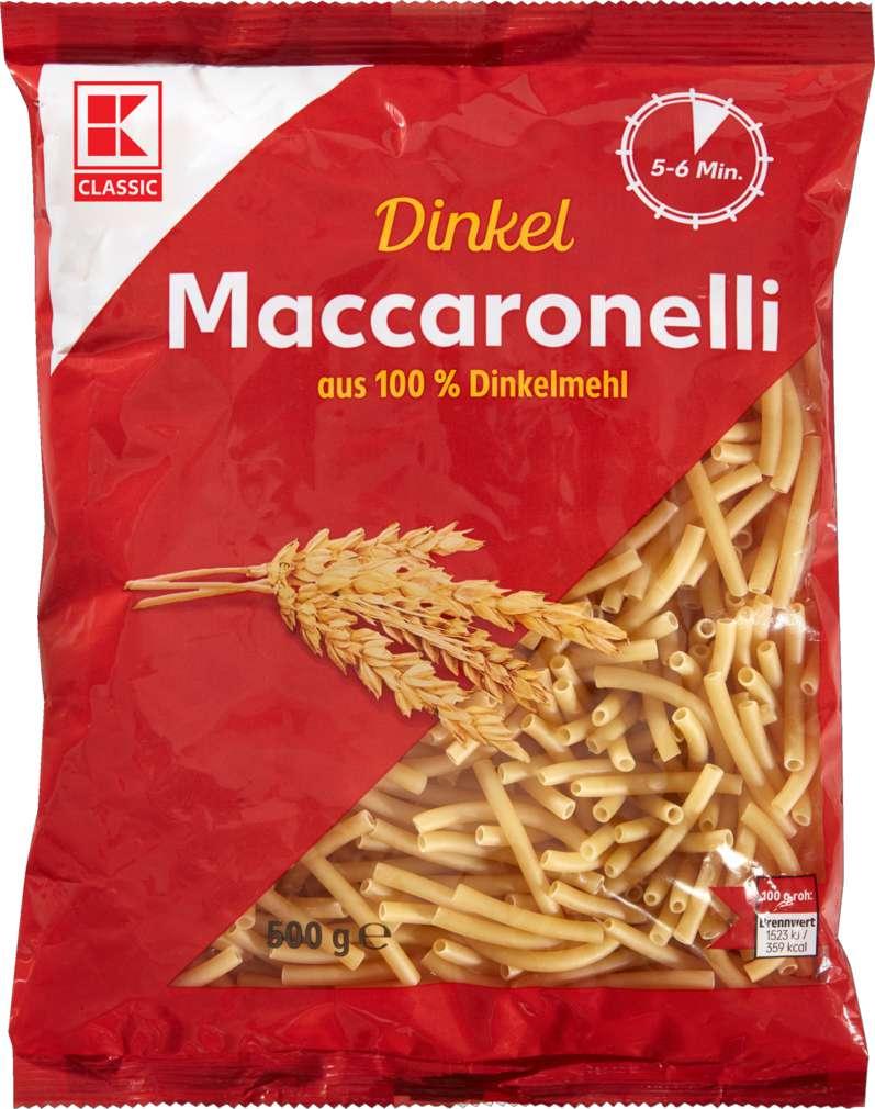 Abbildung des Sortimentsartikels K-Classic Dinkel-Maccaronelli 500g