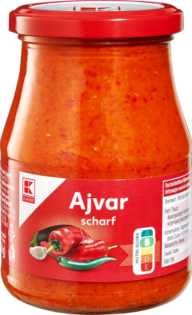 Abbildung des Sortimentsartikels K-Classic Ajvar scharf 340ml