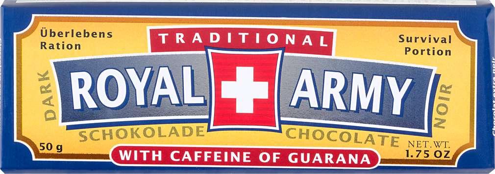 Abbildung des Sortimentsartikels Choco Gourmet Dark Schokolade Royal Army 50g