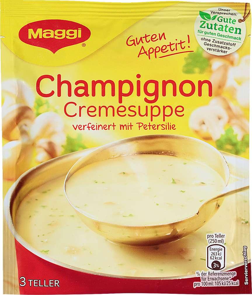 Abbildung des Sortimentsartikels Maggi Guten Appetit Suppe Champignoncreme ergibt 750ml