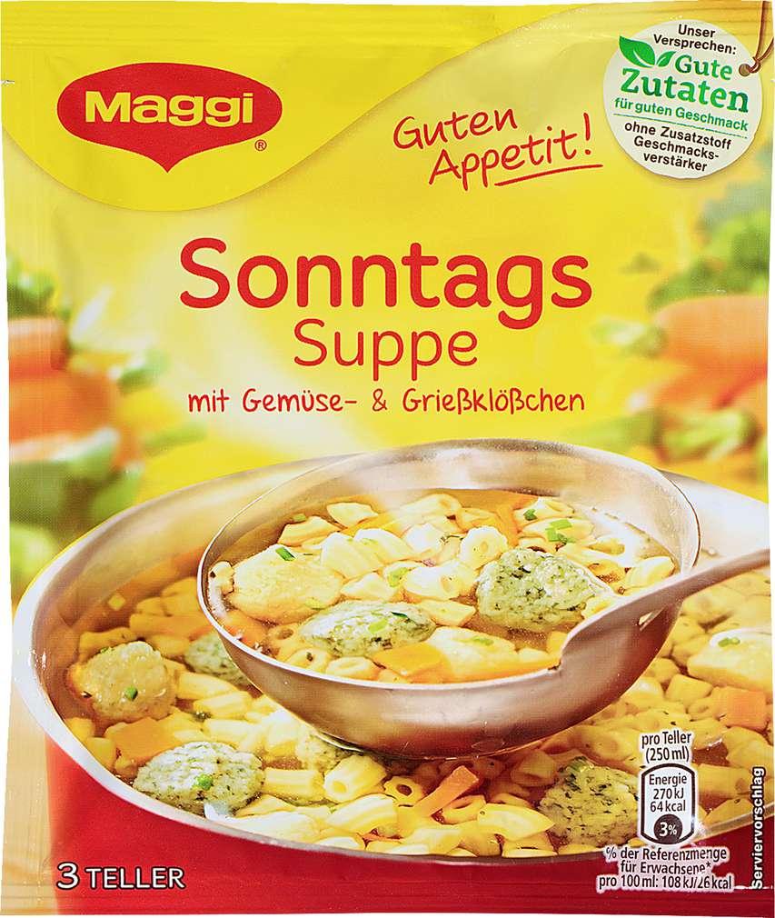 Abbildung des Sortimentsartikels Maggi Guten Appetit Suppe Sonntagssuppe ergibt 750ml